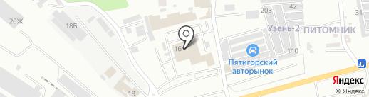 АвтоDJ на карте Пятигорска