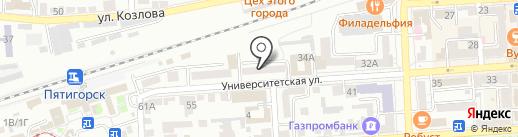 Адвокат Наумова Л. В. на карте Пятигорска