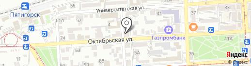 Профсоюз работников агропромышленного комплекса на карте Пятигорска