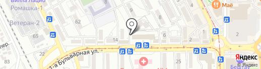 Натуравита на карте Пятигорска
