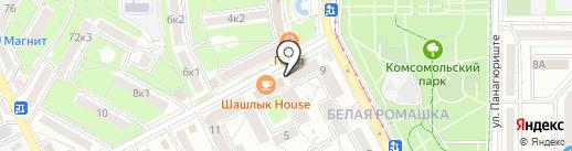 ТРИКОЛОРТВ на карте Пятигорска