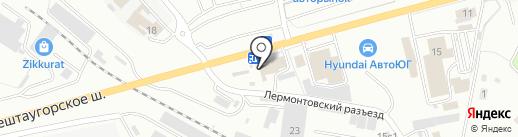 Кавказская домашняя кухня на карте Пятигорска