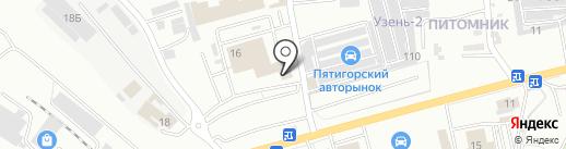 Автостар, ЗАО на карте Пятигорска