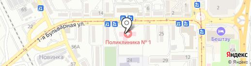 Городская поликлиника №1 на карте Пятигорска