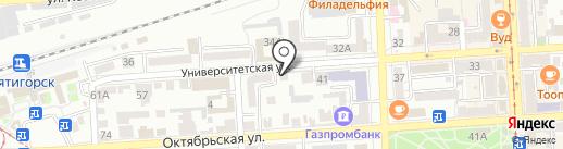 Адвокатская контора №4 на карте Пятигорска