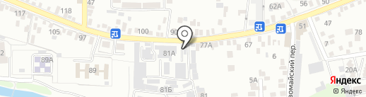 Велес на карте Пятигорска