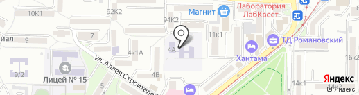 Детский сад №4, Солнышко на карте Пятигорска