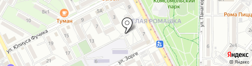 КПТ, ЗАО на карте Пятигорска