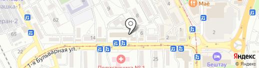 Гейзер-КМВ на карте Пятигорска