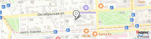 КМВ-принт на карте Пятигорска