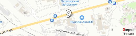АвтоБерг на карте Пятигорска