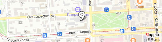 Сауна на карте Пятигорска