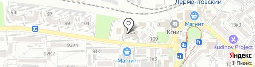 Автосервис на Московской на карте Пятигорска