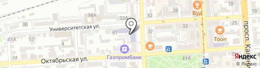 Пятигорский техникум торговли на карте Пятигорска