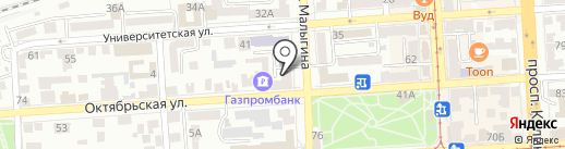 Банк УРАЛСИБ на карте Пятигорска