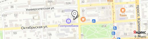 Банк Уралсиб, ПАО на карте Пятигорска