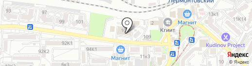 Автоцентр на карте Пятигорска