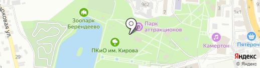 Три колодца на карте Пятигорска