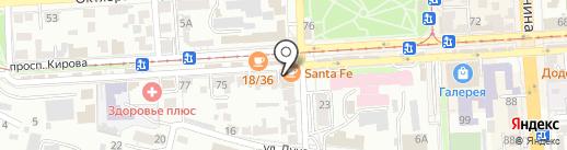 Клеопатра на карте Пятигорска