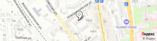 Созидание на карте Пятигорска