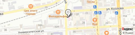 Ракушка на карте Пятигорска
