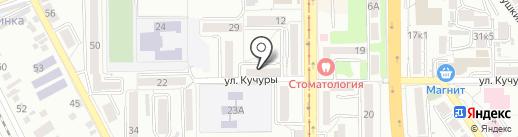 Гривенник на карте Пятигорска