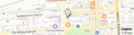 Юный техник на карте Пятигорска