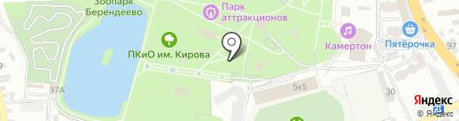 Алладин на карте Пятигорска