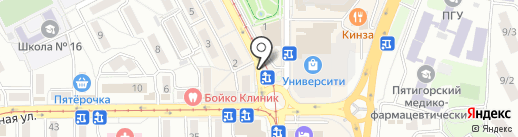 Гиромания на карте Пятигорска
