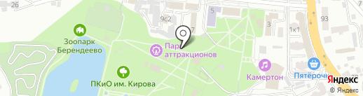 Страйкбольный тир на карте Пятигорска
