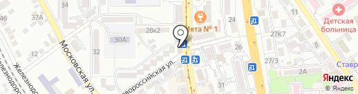 Акуна-Матата на карте Пятигорска