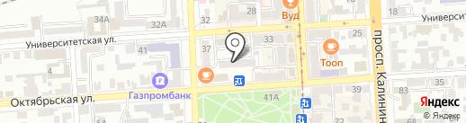 Ателье по пошиву и ремонту одежды на карте Пятигорска