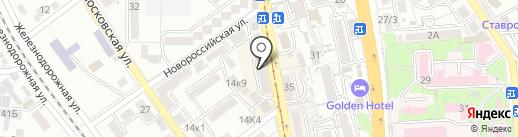 Леоди на карте Пятигорска