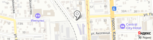 Рутэкс-Рус на карте Пятигорска