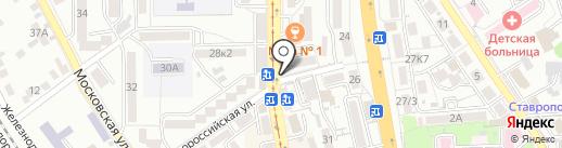 Пятигорский хлебокомбинат на карте Пятигорска