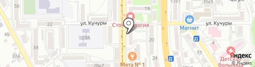 Полька на карте Пятигорска
