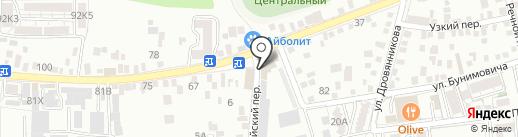 Ивушка на карте Пятигорска