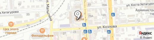 Медиум на карте Пятигорска