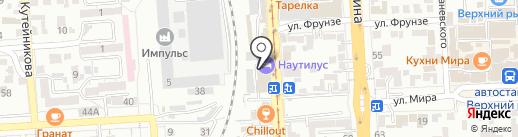 Наутилус на карте Пятигорска