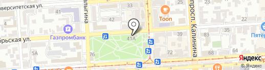 Сытый слон на карте Пятигорска
