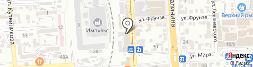 Банкомат, Бинбанк, ПАО на карте Пятигорска