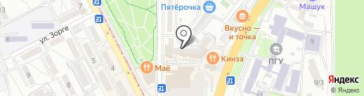 2М на карте Пятигорска
