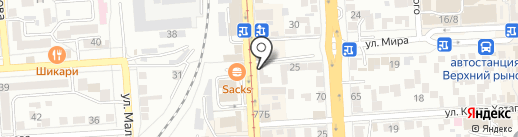 Пантера на карте Пятигорска