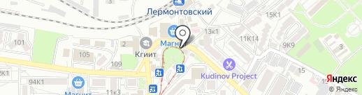 Цветочный магазин на карте Пятигорска