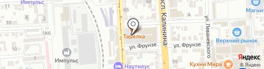 Кристалл на карте Пятигорска
