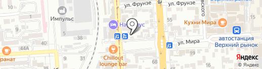 Салютем на карте Пятигорска