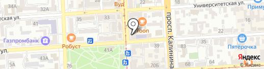 СКФУ на карте Пятигорска