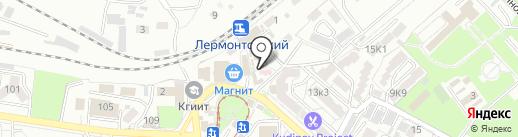 Живица на карте Пятигорска