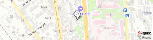 ИНДОЛА на карте Пятигорска