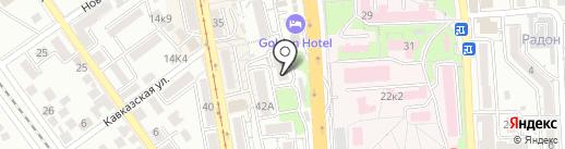 Елена Дент на карте Пятигорска